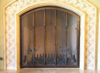 Headboard Fire Screen